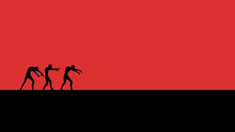 Zombies Walking in Vignette Style Footage