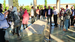 in iran antique grave of hafez persian poet attraction of tourist and heritage Live Action