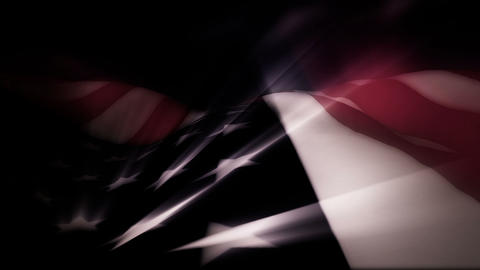 The American flag with light effects waves in the breeze - Old Glory 0103 HD, 4K Animation
