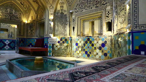 In iran kashan islamic hammam carpet00 01 Footage