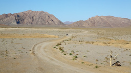 in iran desert and mountin and some contruction for nobody Live Action