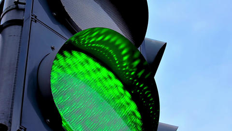 1080p Traffic Light Changing Colors Footage