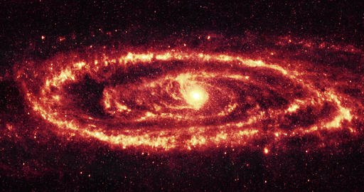 4K Spiral Galaxy / Galaxy in Space / Galaxy Rotating Live Action