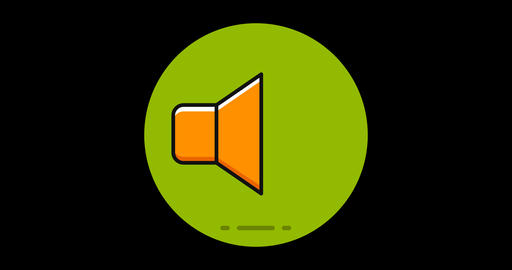 Sound Premium flat icon animated with alpha channel Live Action
