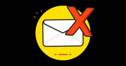 Mail (Spam) Premium flat icon animated with alpha channel Live Action