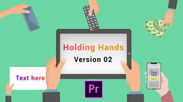Animated Holding Hands V2 Motion Graphics Template