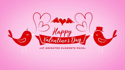 Valentine Day Toolkit (Full HD, vertical, square) After Effects Template