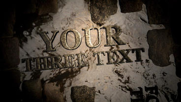 Text on stones Motion Graphics Template