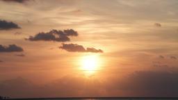 Sunrise sky in Islamorada, Florida Keys with clouds moving and horizon Footage