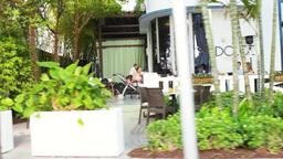 Miami Beach, USA panning driving on Art Deco South Beach Ocean Drive Footage