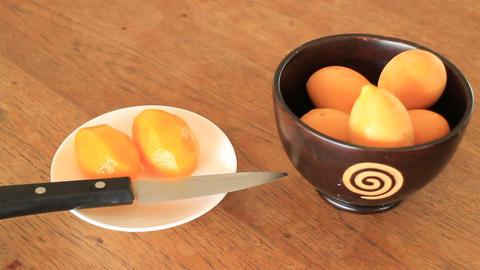 Easy Eating Sweet Marian Plum Thai Fruit Footage