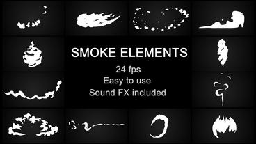 Flash FX Cartoon Smoke After Effects Template