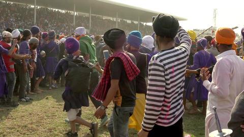 Anandpur Sahib, India-20180302- Hola Mohalla - Sikh Festival - Audience Closes Footage