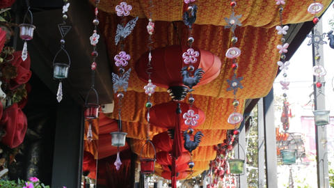 Vintage chinese style lantern ceiling decoration Footage