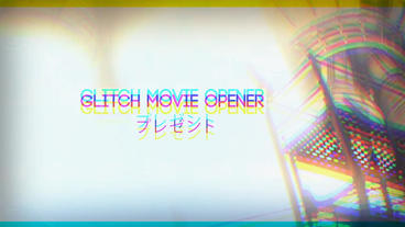 Glitch Movie Opener After Effects Template