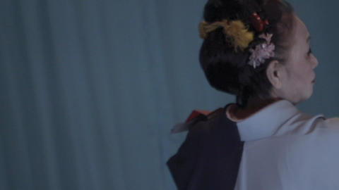 """A woman dancing Japanese tradition """"Japanese dance"""". Return beauty Live Action"""
