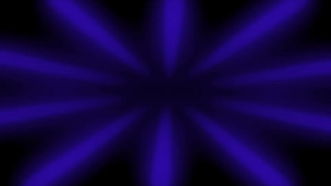 Blue Sunburst Dark Rays Looped Background Animation