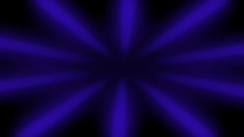 Blue Sunburst Dark Rays Looped Background Animation