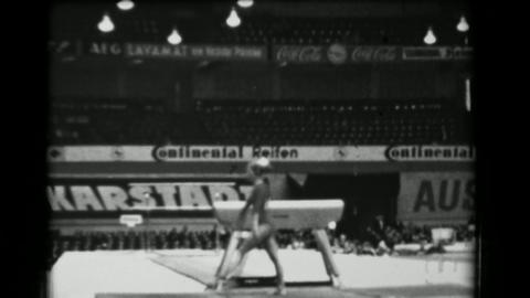 1966: Erika Zuchold East Germany women's vault 16th Artistic Gymnastics World Ch Live Action