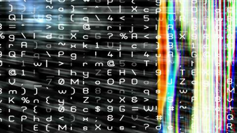 Streaming data and video flux - Digital Graffiti 001 NTSC, PAL, HD, 4K Animation