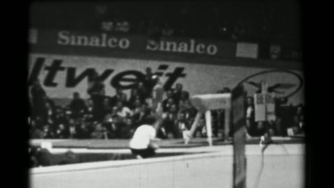 1966: Larisa Petrik Soviet Union women's vault 16th Artistic Gymnastics World Ch Live Action