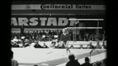 1966: Larisa Petrik Soviet Union women's floor exercise 16th Artistic Gymnastics Footage