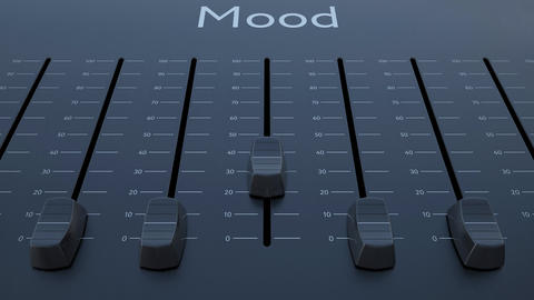 Sliding fader with mood inscription Footage