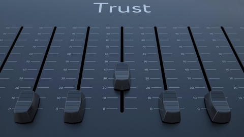 Sliding fader with trust inscription Footage