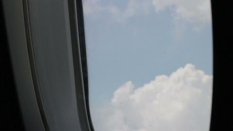 Window Seat Sky Sight Of Airplane Footage