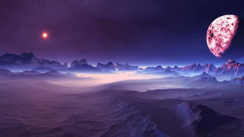 Changeable Sunrise on Alien Planet GIF