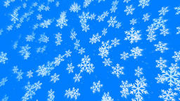 3d beautiful snowflakes randomly flying in space Animation