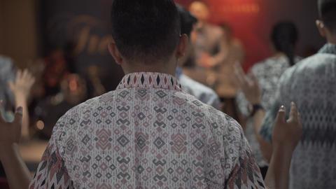 People Worship at Church GIF