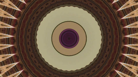Beautifully changing drawings in kaleidoscope GIF