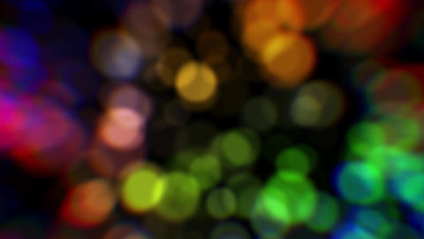 Colorful abstract background. Colorful blurred lights. Color bokeh particles Animation