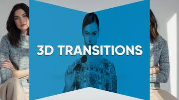 3D Transitions Premiere Pro Template