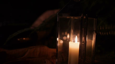 Lamp Candle Blown Out Footage