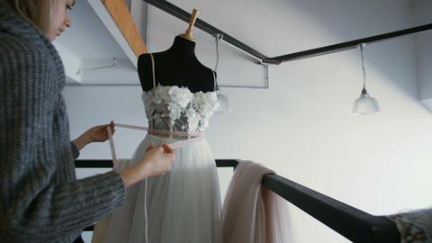 Fashion Designer at Work in Studio Footage