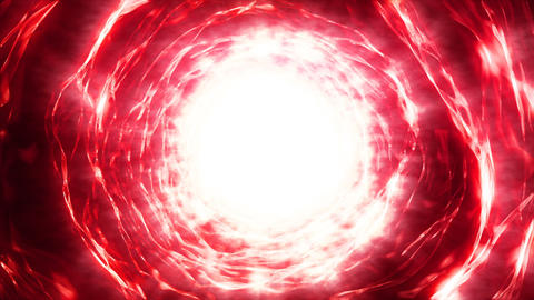 Hyperspace energy portal red CG動画素材