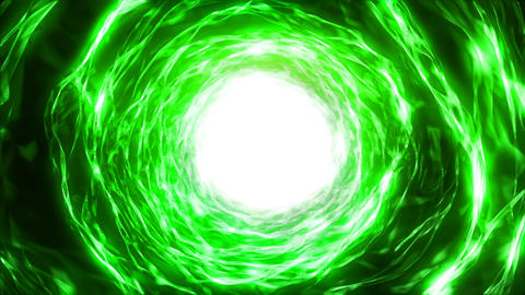 Hyperspace energy portal green Animation