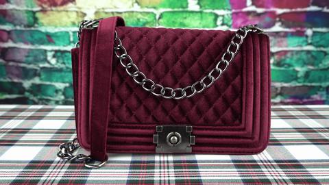 Claret fashionable bag one Footage