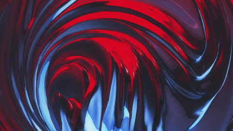 Abstract Red-Blue Swirl Flow Animation