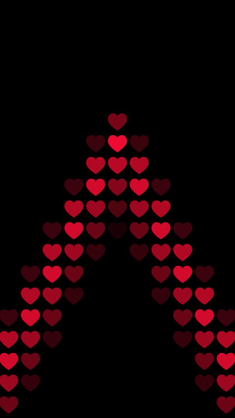 Hearts (with alpha chanel) CG動画素材