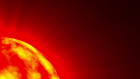 Big Red Hot Sun Surface Rays Fractal Sphere Motion Background Loop Fast Animation