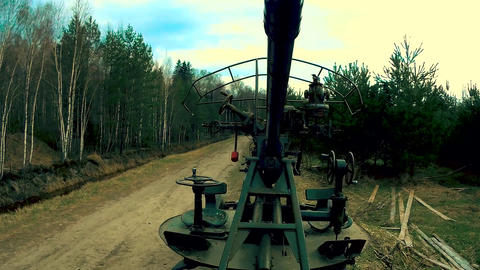 Anti-aircraft gun of artillery troops Footage