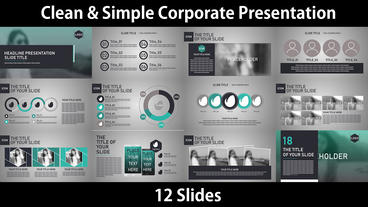 Simple Corporate Presentation After Effects Template