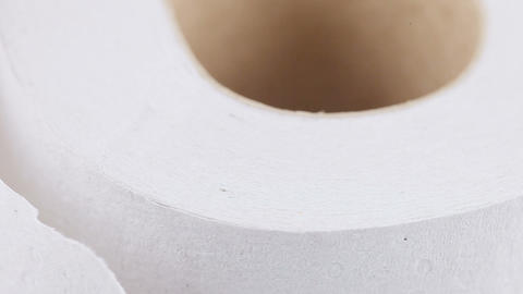 Roll of toilet paper Footage