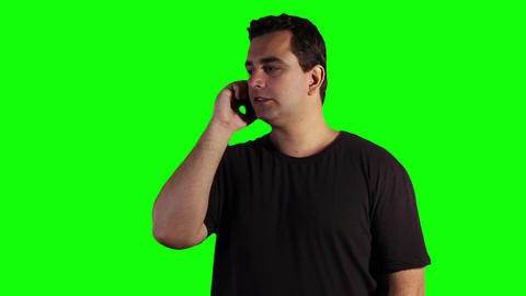 Young Man Cell Phone Bad News Greenscreen 05 Stock Video Footage