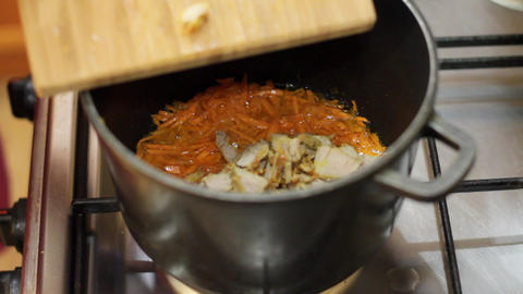 cooking rice 3 Stock Video Footage