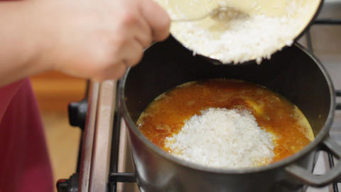 cooking rice 5 Stock Video Footage