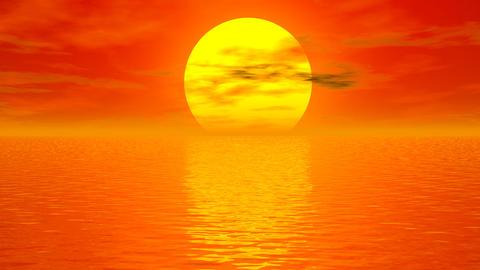 Sunset meditation - 3D render Stock Video Footage